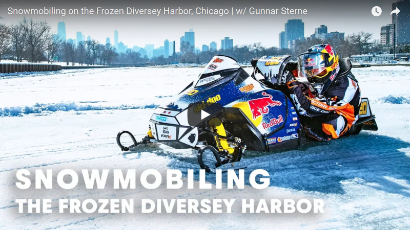 Red Bull – Snowmobiling on the Frozen Diversey Harbor, Chicago